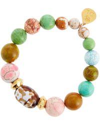 Devon Leigh - Multicolor Agate Stretch Bracelet - Lyst