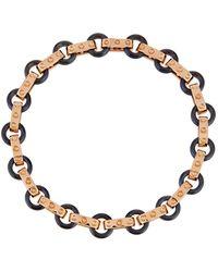 Roberto Coin - Pois Moi 18k Rose Gold & Titanium O-ring Bracelet - Lyst