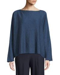 Eskandar - Round-neck Long-sleeve Slim Square Knit Top - Lyst