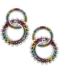 DANNIJO - Truby Double Hoop Earrings Rainbow - Lyst