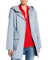Kate Spade - Snap-front Hooded Trench Coat - Lyst
