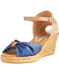 Neiman Marcus - Tirana Canvas And Leather Espadrille - Lyst