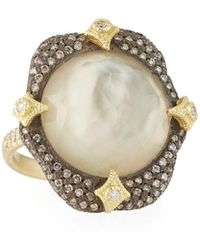 Armenta - Crivelli-prong Ring With Smoky Quartz Doublet Size 6.5 - Lyst