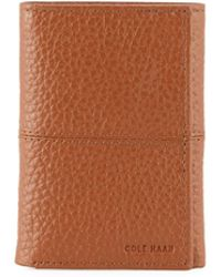 Cole Haan - Men's Full Grain Leather Trifold Wallet - Lyst