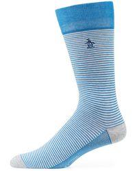 Original Penguin | Tulip Combed Cotton Striped Socks | Lyst