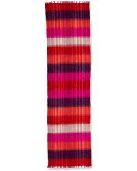 Neiman Marcus - Brushed Twill Plaid Wrap - Lyst