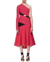 Proenza Schouler - One-shoulder Exposed Bandage Midi Dress - Lyst