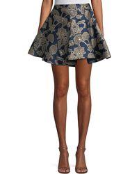 Roberto Cavalli | Metallic Brocade Flare Skirt | Lyst
