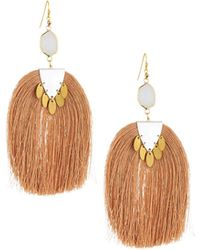 Nakamol - Moonstone & Tassel Drop Earrings - Lyst