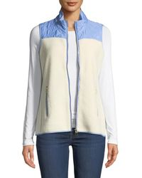 Sail To Sable - Stand-collar Quilted Sherpa Vest - Lyst