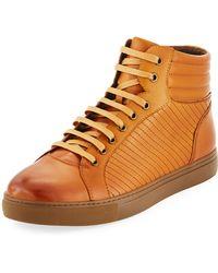 Zanzara - Men's Youse Leather High-top Sneakers - Lyst