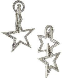 Lydell NYC - Double-sided Star Drop Earrings - Lyst