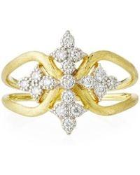 Jude Frances - 18k Moroccan Diamond Maltese Cross Ring - Lyst