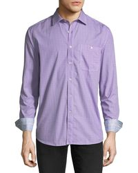 Bugatchi - Classic-fit Grid Sport Shirt - Lyst