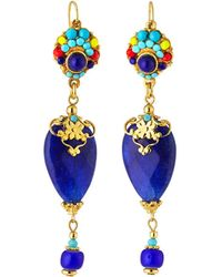 Jose & Maria Barrera - Inverted Teardrop Agate Dangle Earrings - Lyst