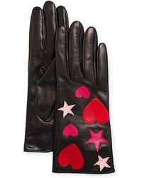 Portolano - Napa Leather Heart And Star Gloves - Lyst