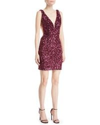 Jovani - Sequin Mini Cocktail Dress W/ Illusion Sides - Lyst