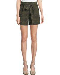 Sanctuary - Daydreamer Camouflage Tie-waist Shorts - Lyst