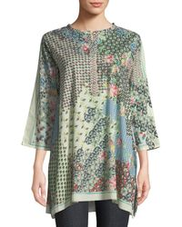 Johnny Was - Pavo 3/4-sleeve Tunic - Lyst