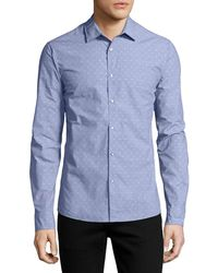 Michael Kors - Dobby-dot Slim Shirt - Lyst