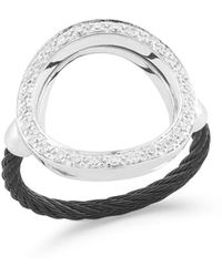 Alor - Open Diamond Pave Circle Ring - Lyst