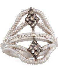 Armenta - New World Twisted Ring W/ Champagne Diamonds - Lyst