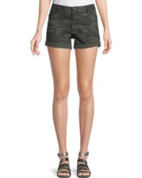 Sanctuary - Faded Camouflage Denim Shorts - Lyst