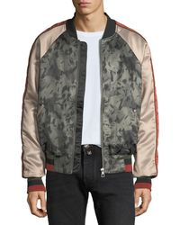ELEVEN PARIS - Mixed Satin Light Bomber Jacket - Lyst
