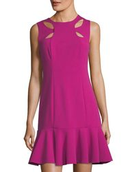 Alexia Admor - Fit-and-flare Cutout Cady Dress - Lyst