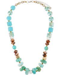 Nakamol - Stone & Crystal Chunky Necklace - Lyst