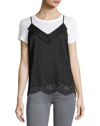1.STATE - V-neck Lace Camisole Top - Lyst