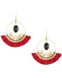 Nakamol - Tassel Hoop Drop Earrings - Lyst