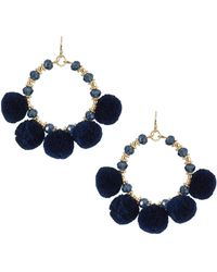Fragments | Pompom Fringe Hoop Earrings | Lyst