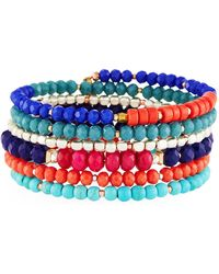 Nakamol - Multicolor Beaded Coil Bracelet - Lyst