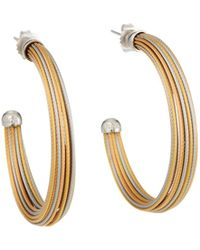 Alor - Cable Multi-hoop Earrings Tricolor - Lyst