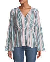 Catherine Malandrino - Florrie Striped Blouse - Lyst