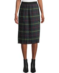 Romeo and Juliet Couture - Tartan Pleated Midi Skirt - Lyst