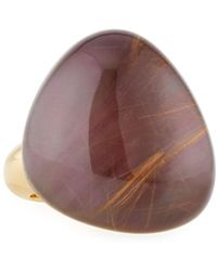 Roberto Coin - Fantasia 18k Rutilated Quartz & Purple Mother-of-pearl Cocktail Ring - Lyst