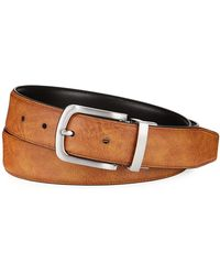 Cole Haan - Men's Feather-edge Reversible Leather Belt - Lyst