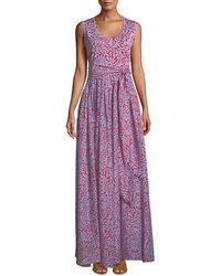 Diane von Furstenberg - Sleeveless Floral Sash-waist Maxi Dress - Lyst