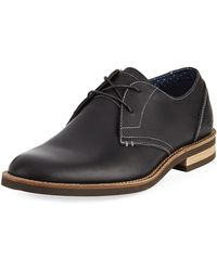 Original Penguin - Wade Leather Lace-up Oxford Black - Lyst