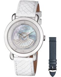 Gv2 - 40mm Catania Diamond Leather Watch - Lyst