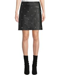da5f8c97cdf65d Forever 21 Studded Faux Leather Skirt in Black - Lyst
