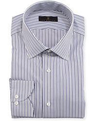 Ike Behar - Gold Label Striped Cotton Dress Shirt - Lyst