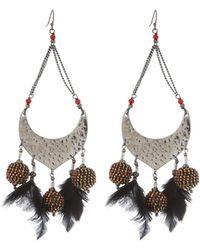 Nakamol - Open Bead & Feather Dangle Earrings - Lyst