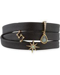Tai - Leather Wrap Charm Bracelet - Lyst