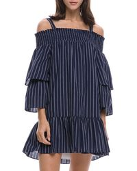 English Factory - Smocked Off-the-shoulder Dress - Lyst