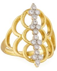 Jude Frances | Moroccan 18k Diamond Center Ring | Lyst
