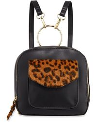 Neiman Marcus - Hannah Backpack With Leopard Detail - Lyst