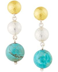 Gurhan - Limited Edition Double-drop Earrings Turquoise - Lyst